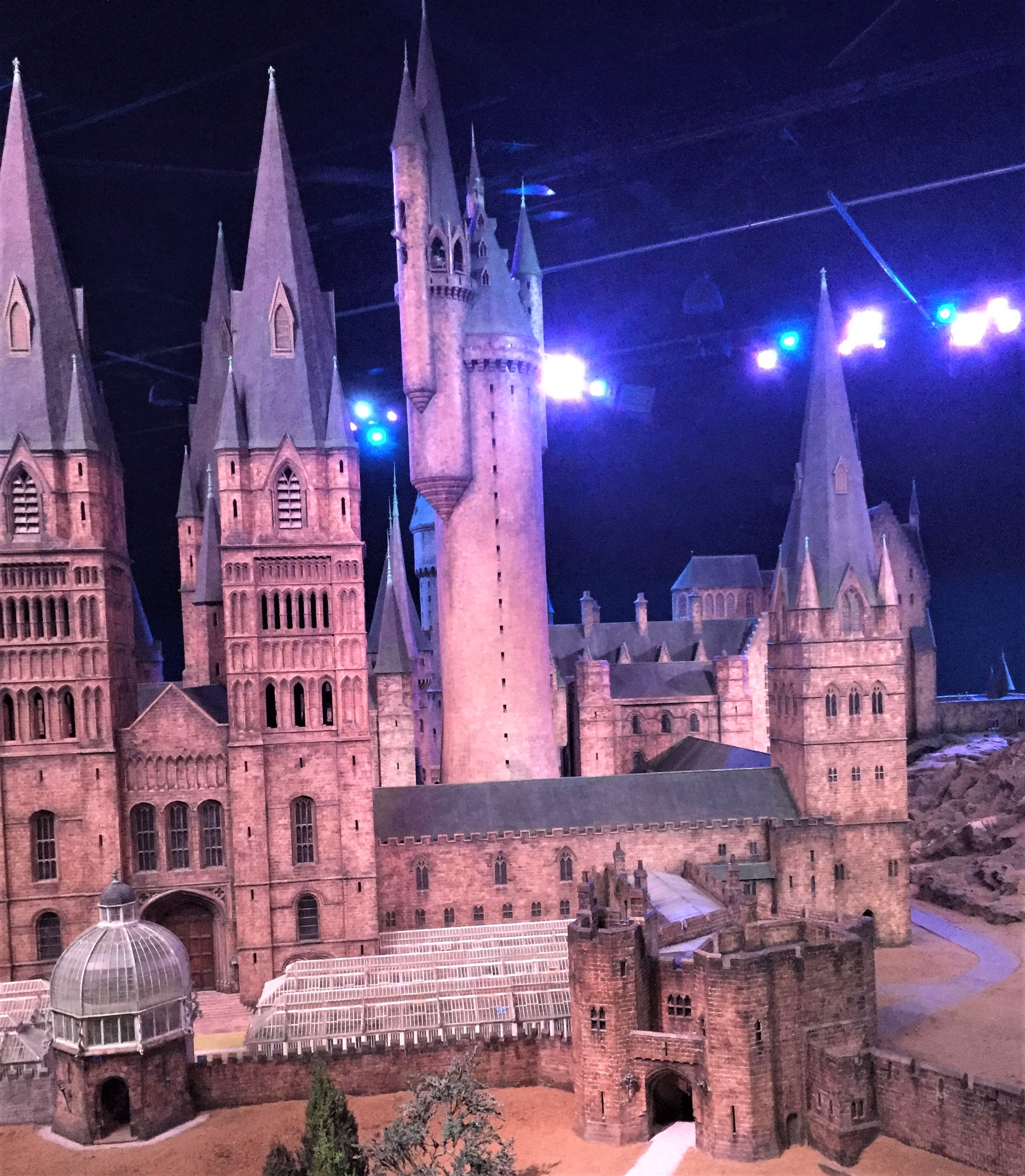 Hogwarts Castle model at the Harry Potter Studio Tour in London.