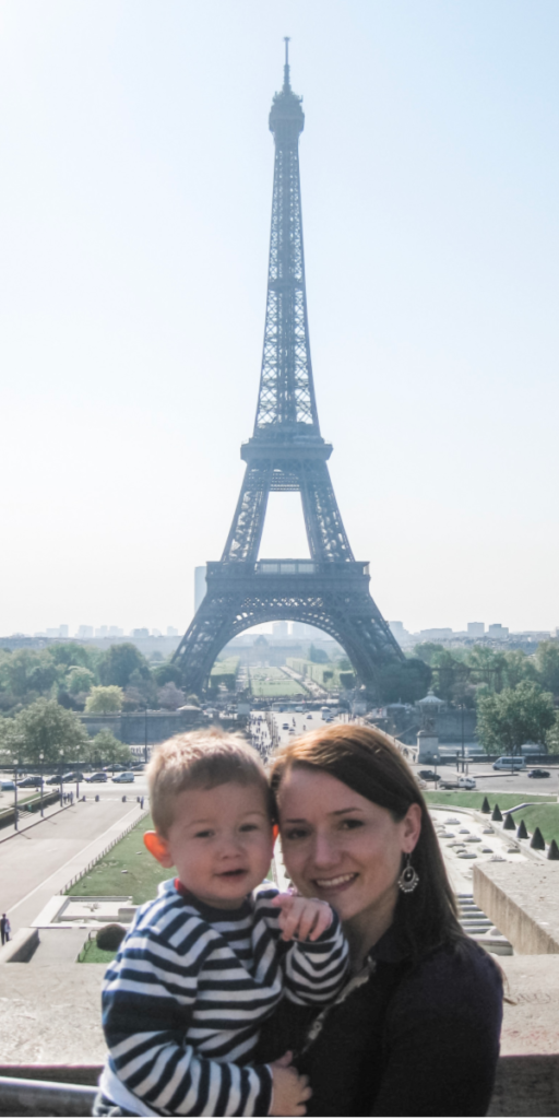 Visiting the Eiffel tower with kids