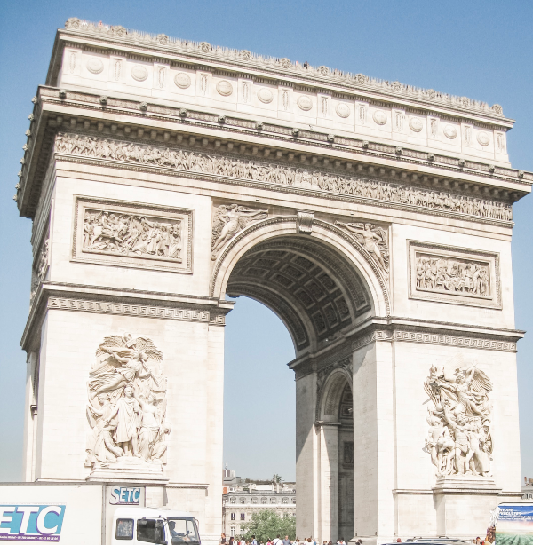 Paris with kids th arc de triomphe