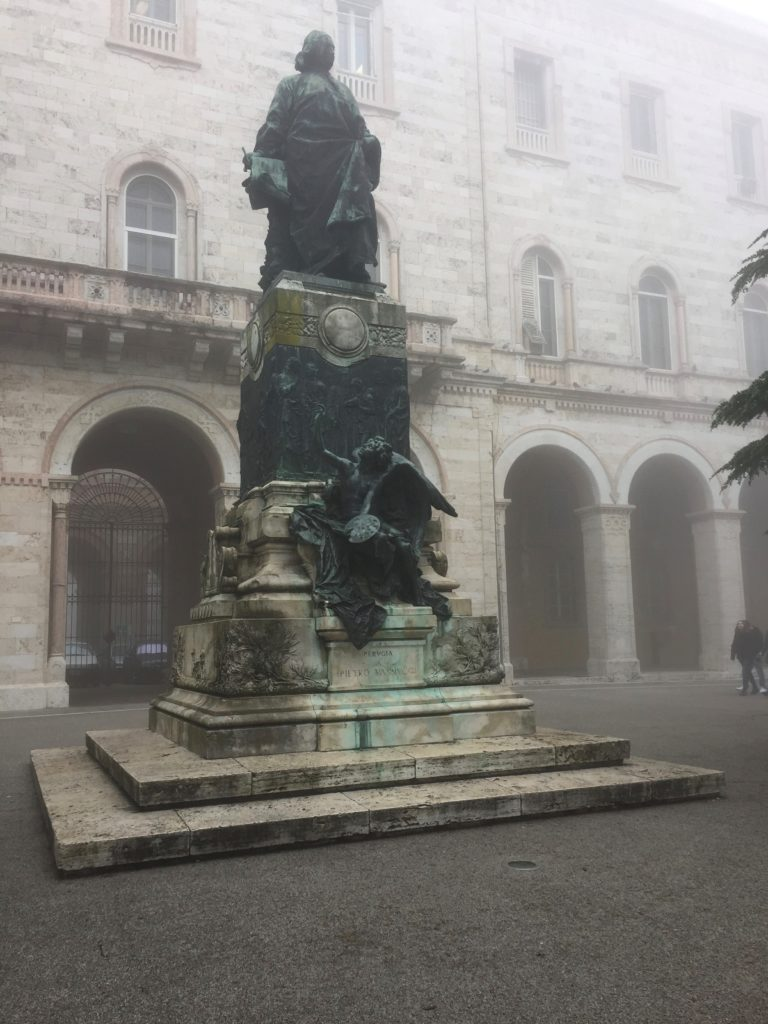 A monument to painter Pietro Vannucci