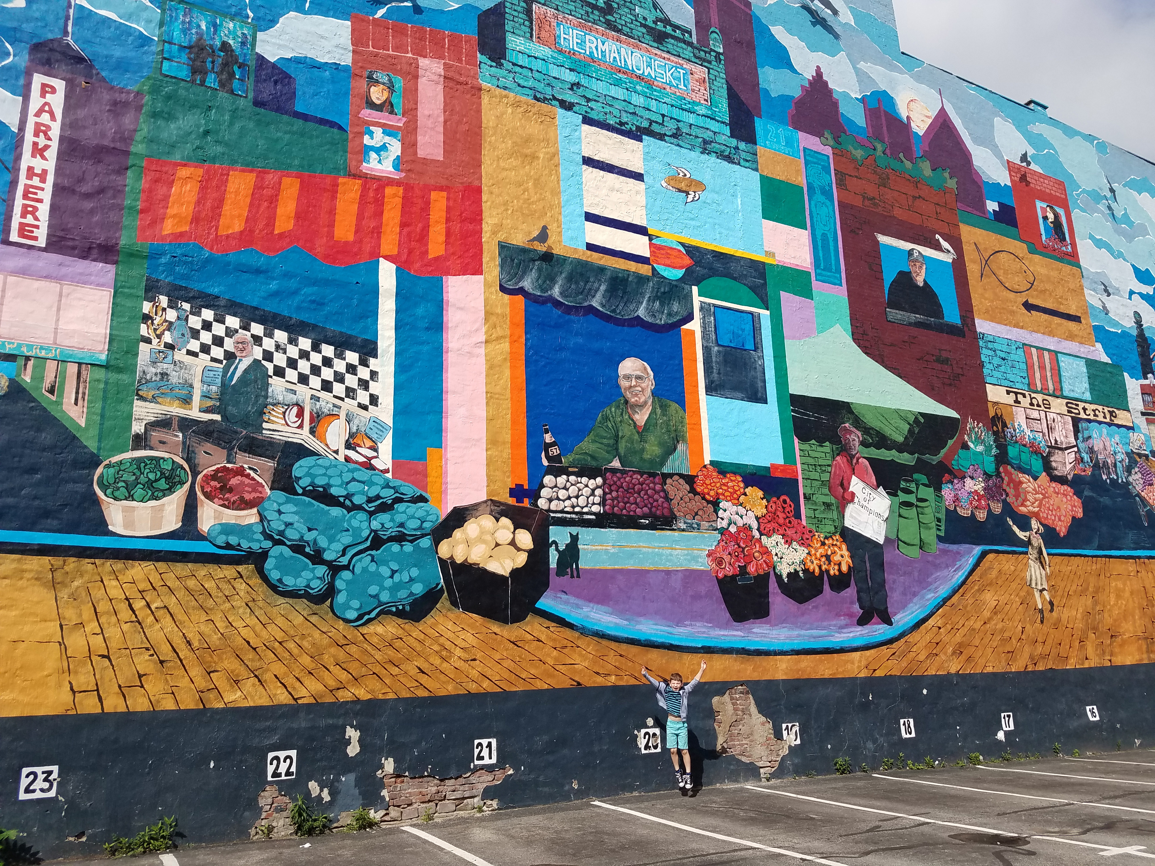 Wall art in Pittsburgh's Strip District
