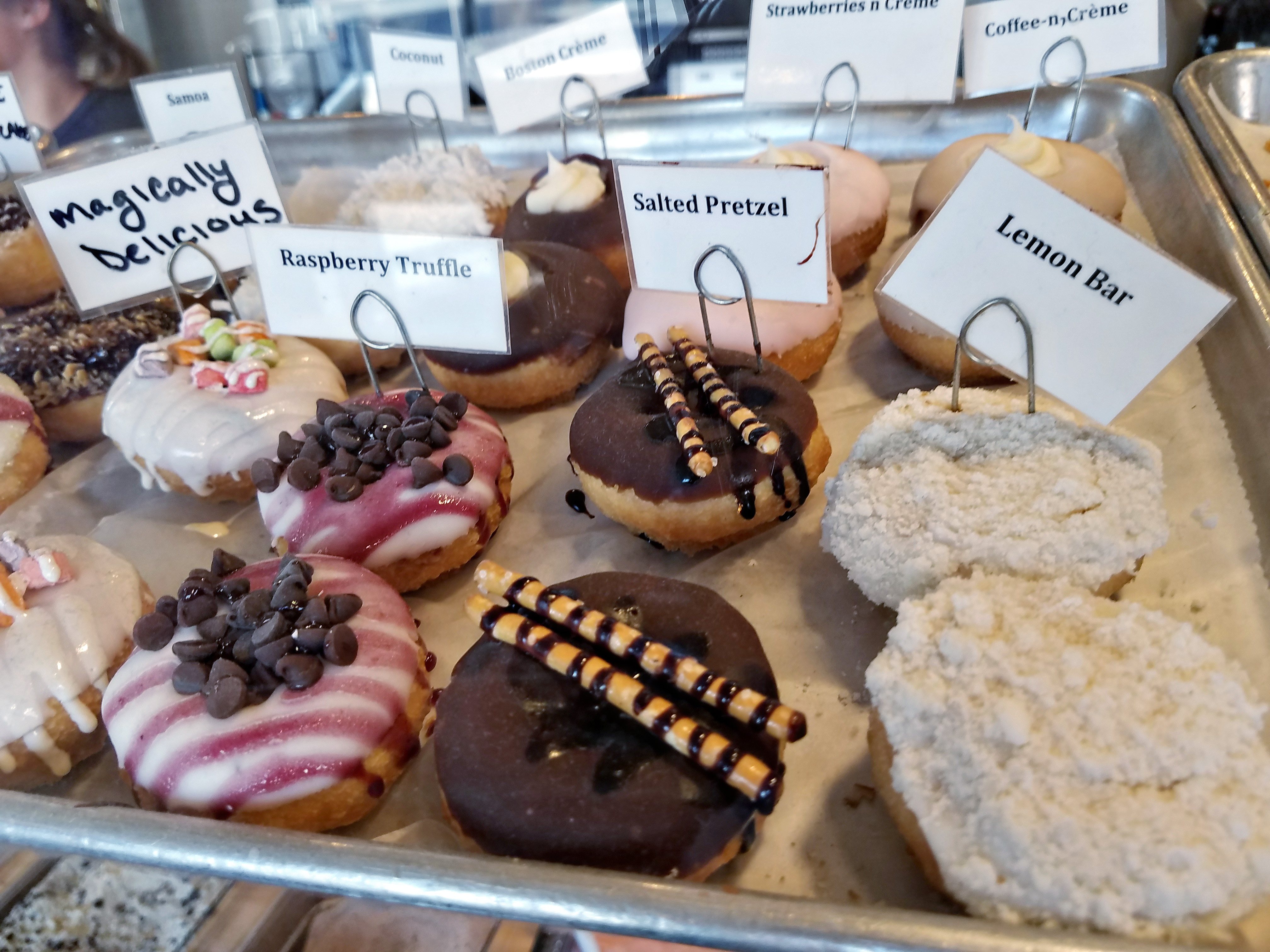 Mini-doughnuts at Peace Love Donuts in Pittsburgh Strip District