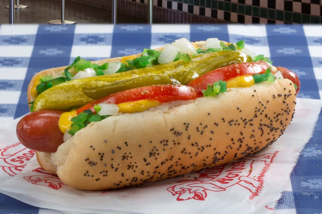 Portillo's is the best place to get Chicago-styled hot dogs and Italian beef sandwiches.