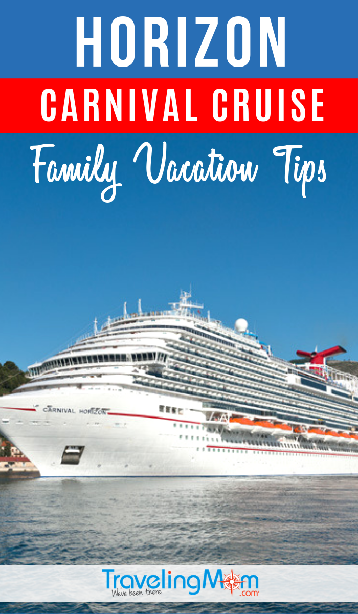 Find out if the beautiful new Carnival Cruise ship Horizon is the right fit for your family. Get the details on the cruise line's newest sailings and what there is for toddlers to teens. #TMOM #Carnival #Cruise | TravelingMom | Cruising Tips | Family Vacation Tips