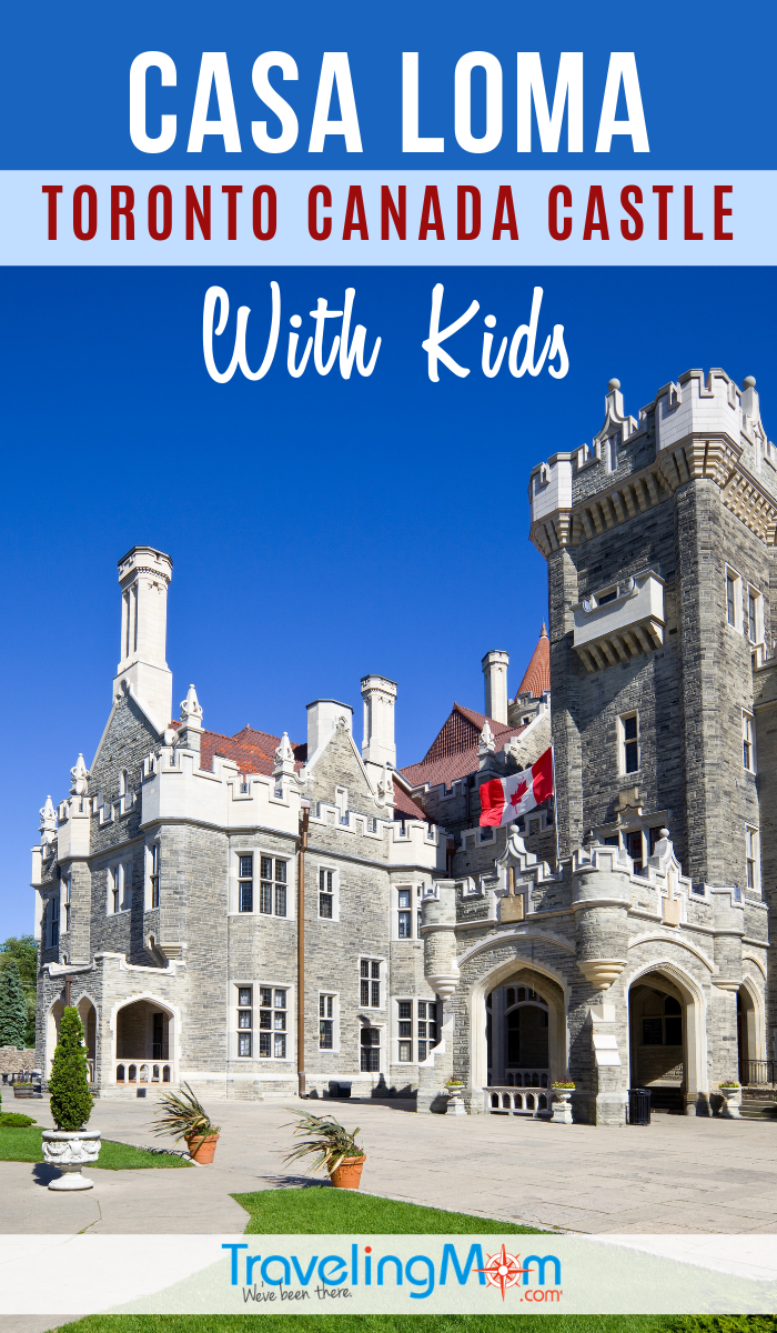 Casa Loma is a majestic castle in Toronto Canada, but what's there to do here that is kid-friendly? Get the family travel tips for this Canadian destination. #TMOM #Canada #Toronto #CasaLoma #CastleTour | TravelingMom | Travel with Kids | Castle Tour