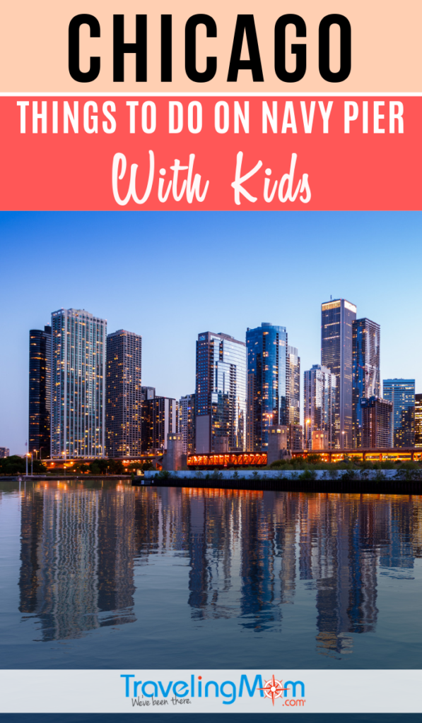 Navy Pier in Chicago is a playground for families! Find out what there is for kids in this midwest hotspot including free entertainment and activities. #TMOM #Chicago #NavyPier | TravelingMom | Illinois | Travel with Kids
