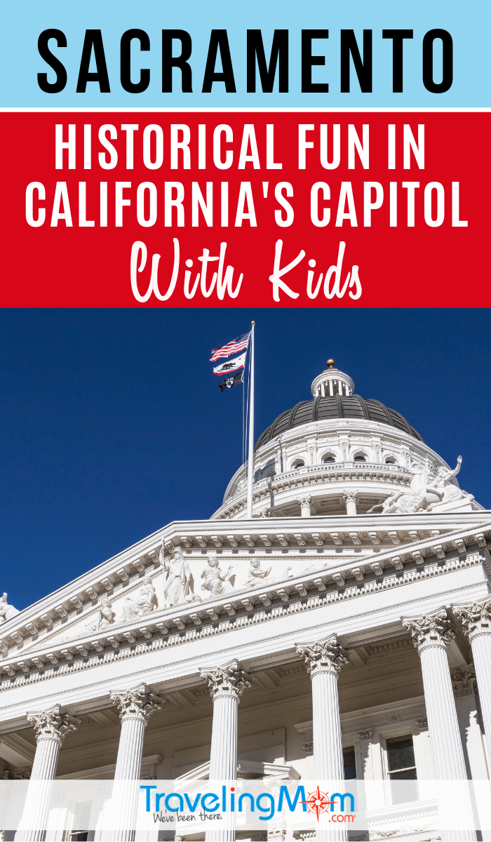 There's a lot of history to discover in California's State Capitol of Sacramento including the gold rush and underground tour. #TMOM #Sacramento #California #USA | TravelingMom | US History | United States Travel | Travel with Kids