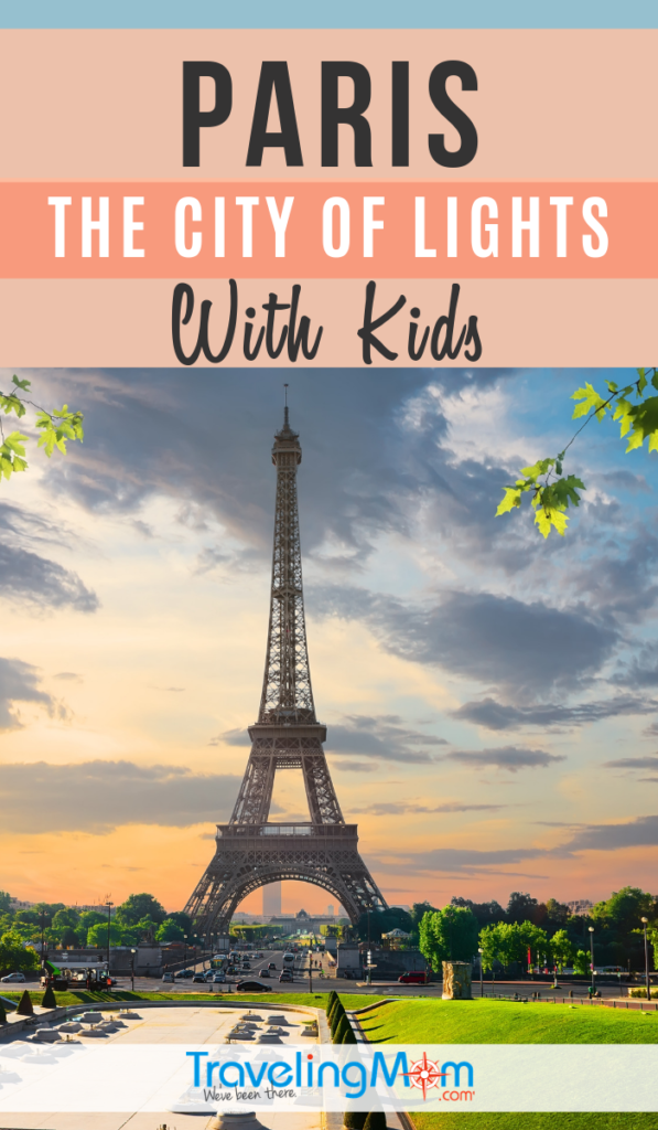 Paris is known as the city of romance so where do little kids fit in? There are lots of things in this bustling European city with kids! These are the must-read tips for traveling in France with children, including whether strollers or baby wearing is best, and what to do in the City of Lights. #TMOM #Paris #France | TravelingMom | Europe | International Travel | Travel with Kids