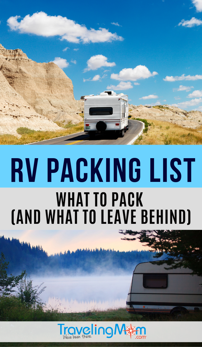 This printable packing list is perfect for RV and camping travel. It's tempting to want to bring it all in the trailer but this list will narrow down exactly what to bring (and what to leave at home). #TMOM #RV #Camping #Trailer | TravelingMom