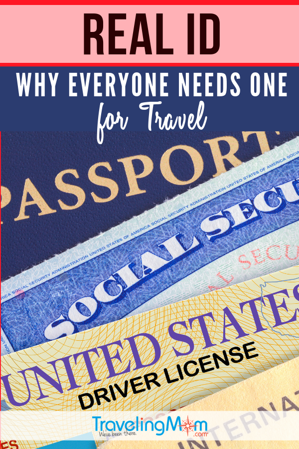 Find out all the questions about the Real ID including when a Real ID will be required for travel. #TMOM #TravelTips #RealID | TravelingMom | Passport | Drivers License | Identification