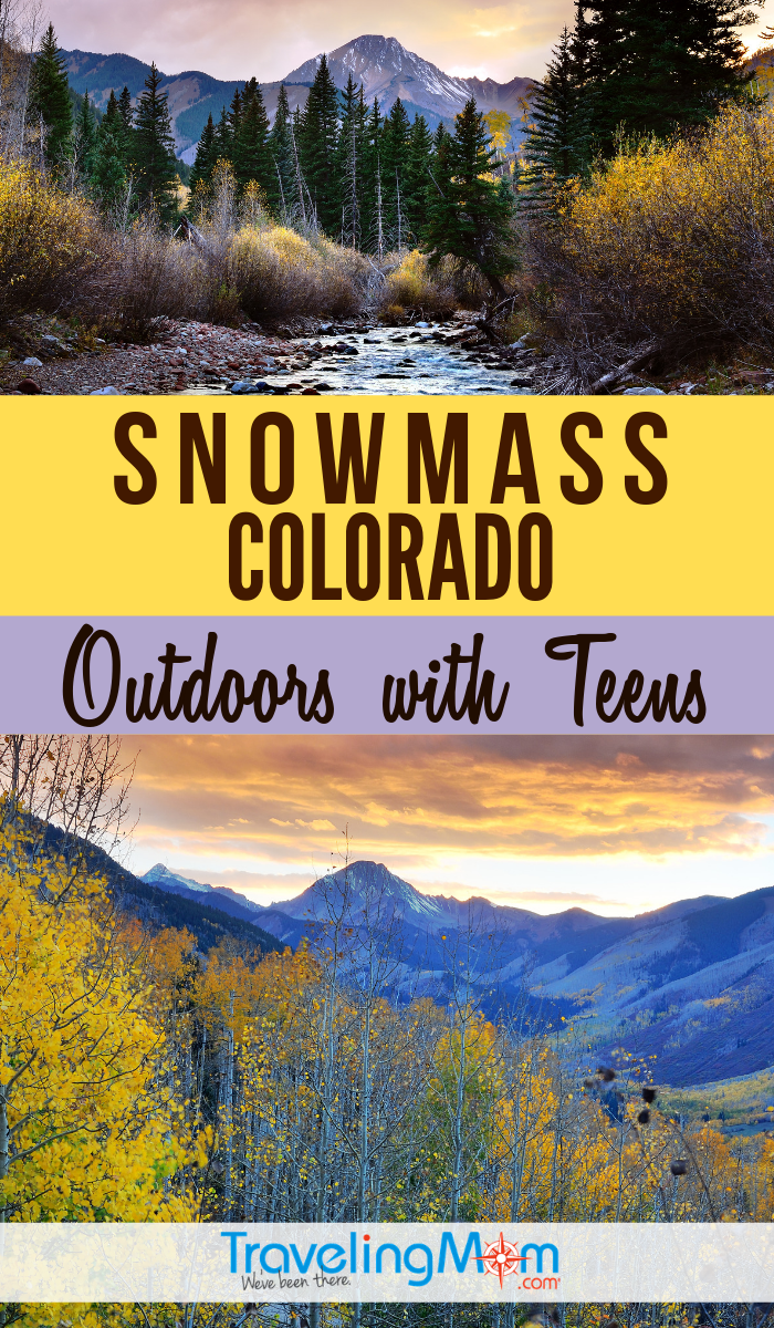 "There's lots to do in the ""off-season"" months in Snowmass Colorado (outside of Aspen), especially with outdoorsy teenagers. Find out what to do in summer with tweens and teens including where to stay, what to eat as well as rodeo, hiking and biking tips. #TMOM #Snowmass #Colorado #TeenTravel 
