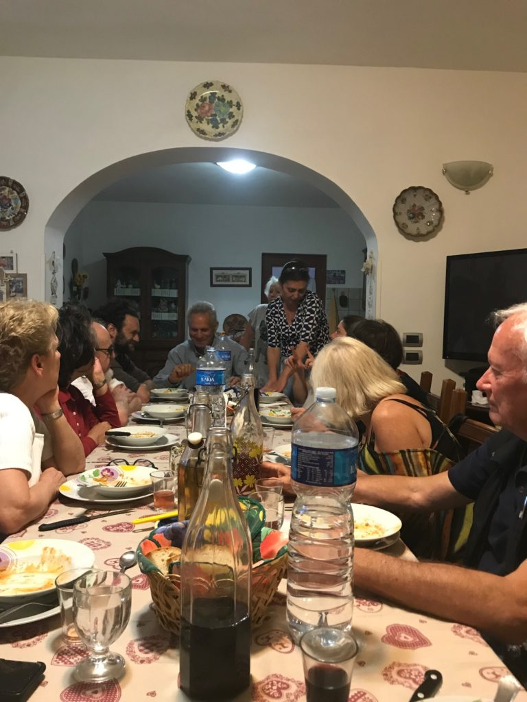 Dinner hosted at the Umbrian farmhouse.
