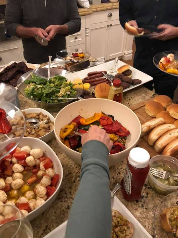 What does dinnertime ook like at your family reunions?