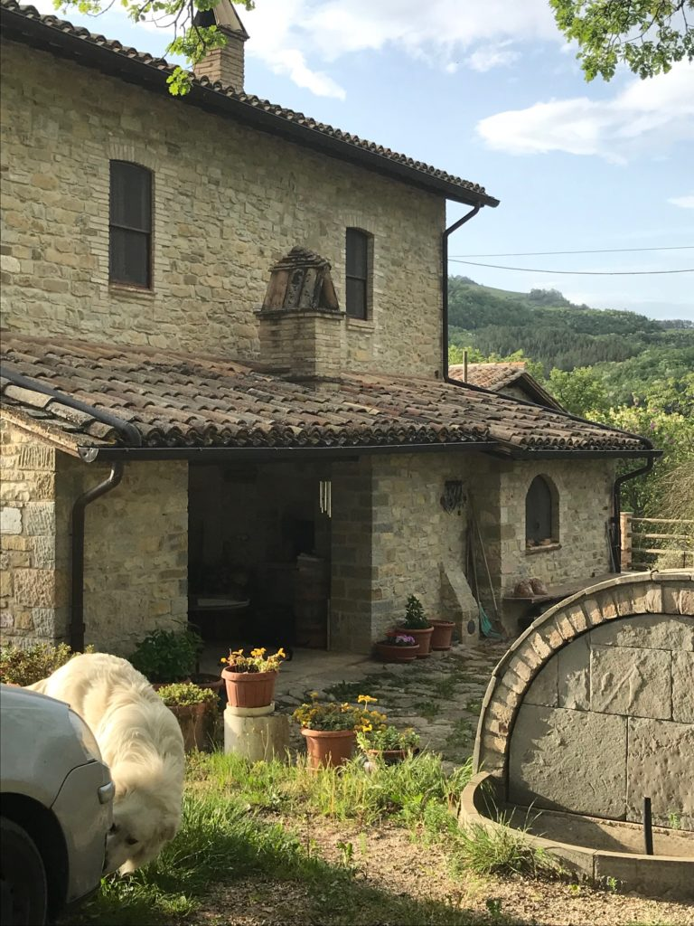 A restored farmhouse in the Assisi countryside--Umbria Italy