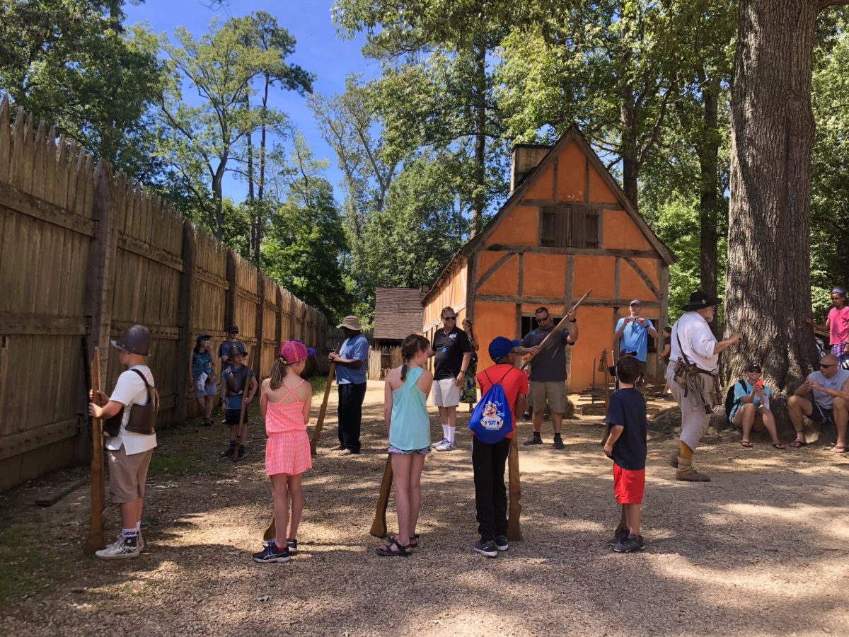 Things to do in Greater Williamsburg include exploring the recreated Jamestown fort.