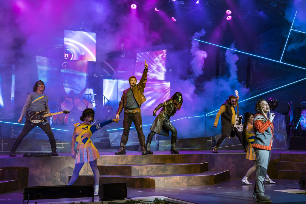 How to do Disney unplugged - take in a show like this Guardians of the Galaxy show.