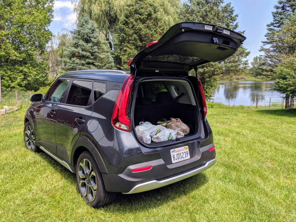 Trunk room in the 2020 Kia Soul X-Line.