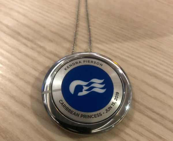 When you begin your Caribbean Princess cruise, you'll sign up for a Medallion that contains all your information for the week. | TravelingMom.com