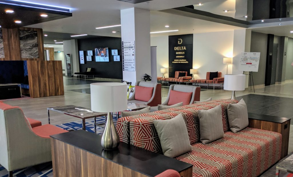 Newly renovated Delta Hotel lobby in Trois-Rivieres Canada