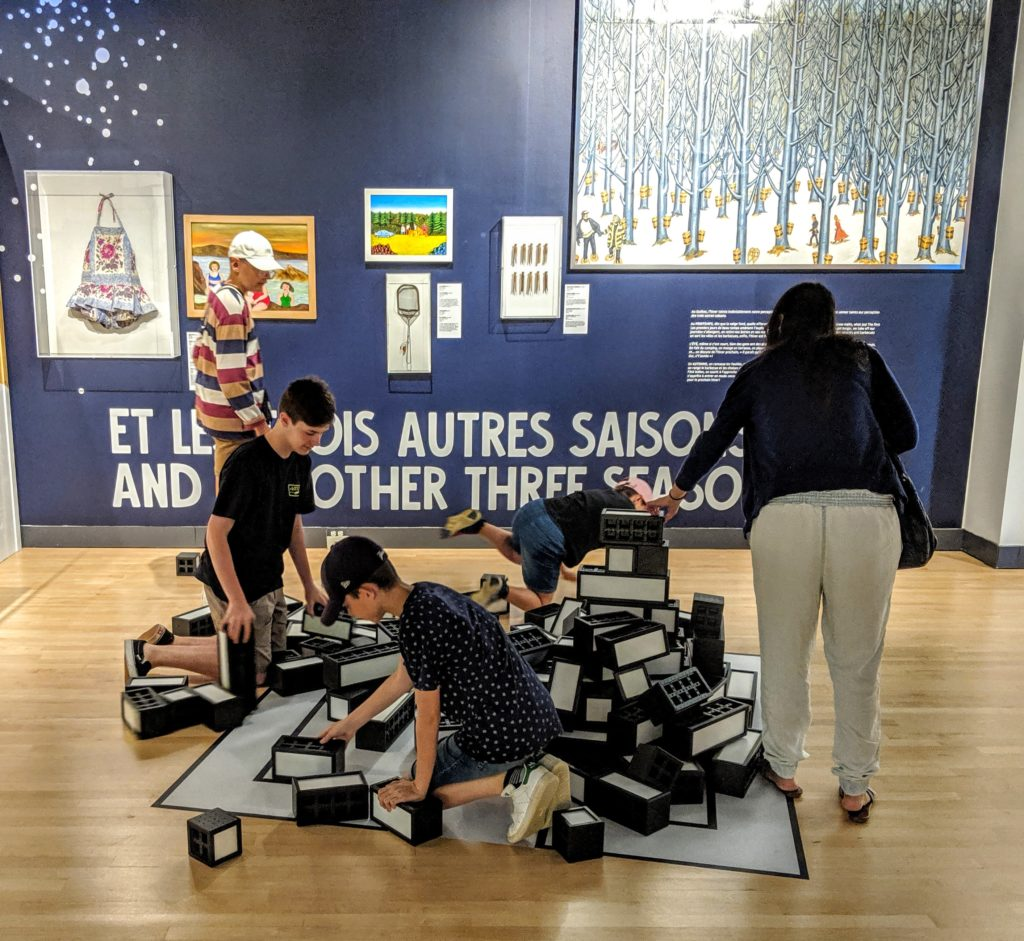 Teens having fun at Musee Pop in Trois-Rivieres Canada