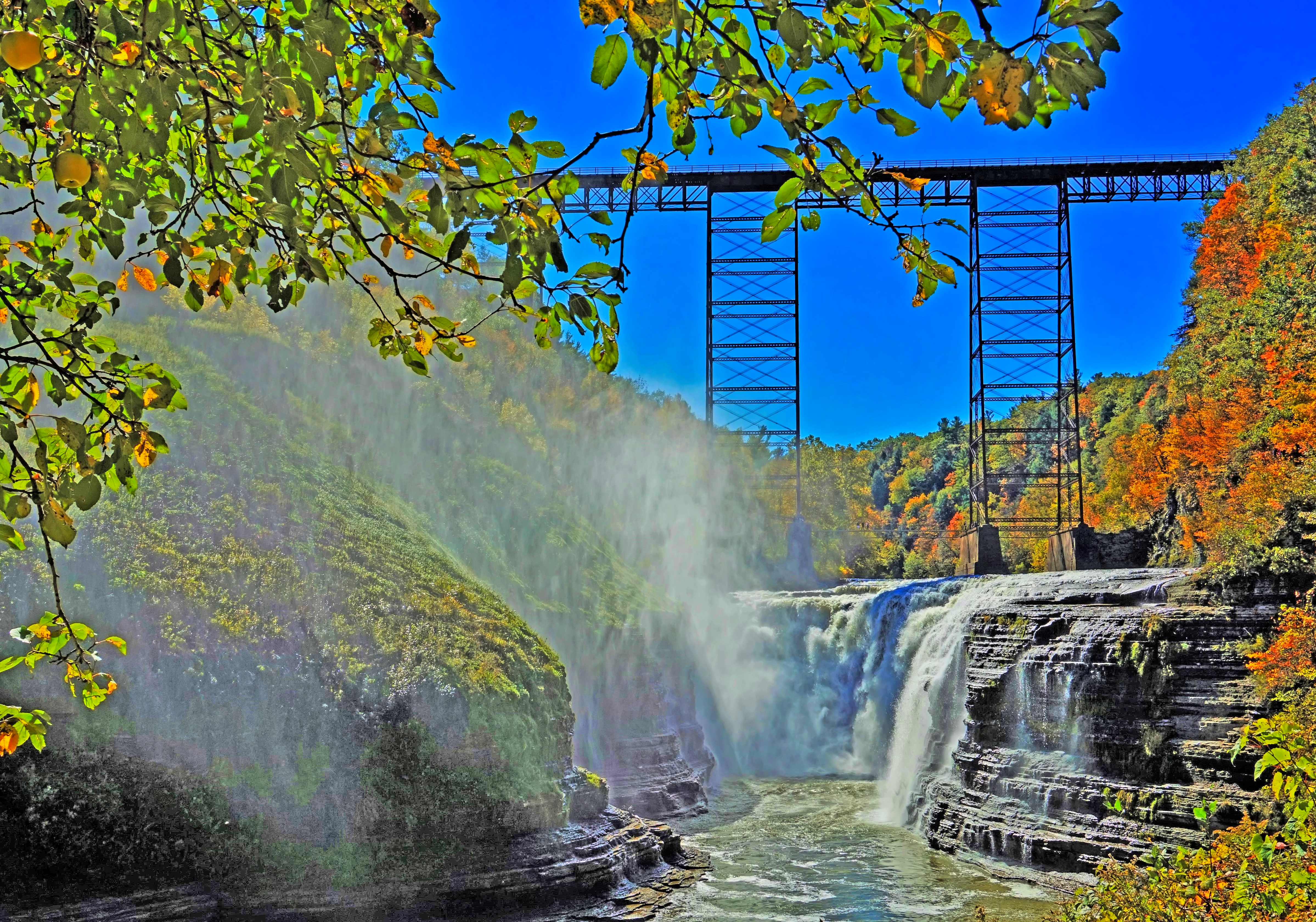 The Genesee Arch Bridge is a steel arch railroad bridge over the Genesee River in Letchworth State Park, Livingston County, New York.