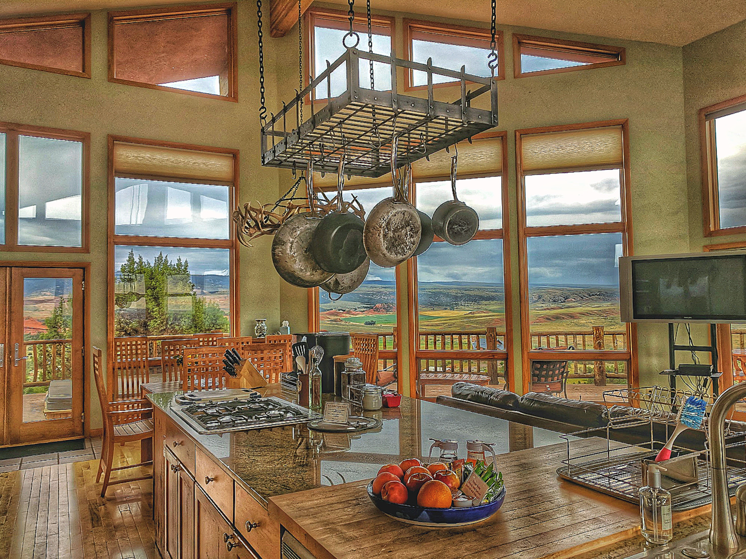 Kitchen at Red Reflet Ranch in Wyoming.