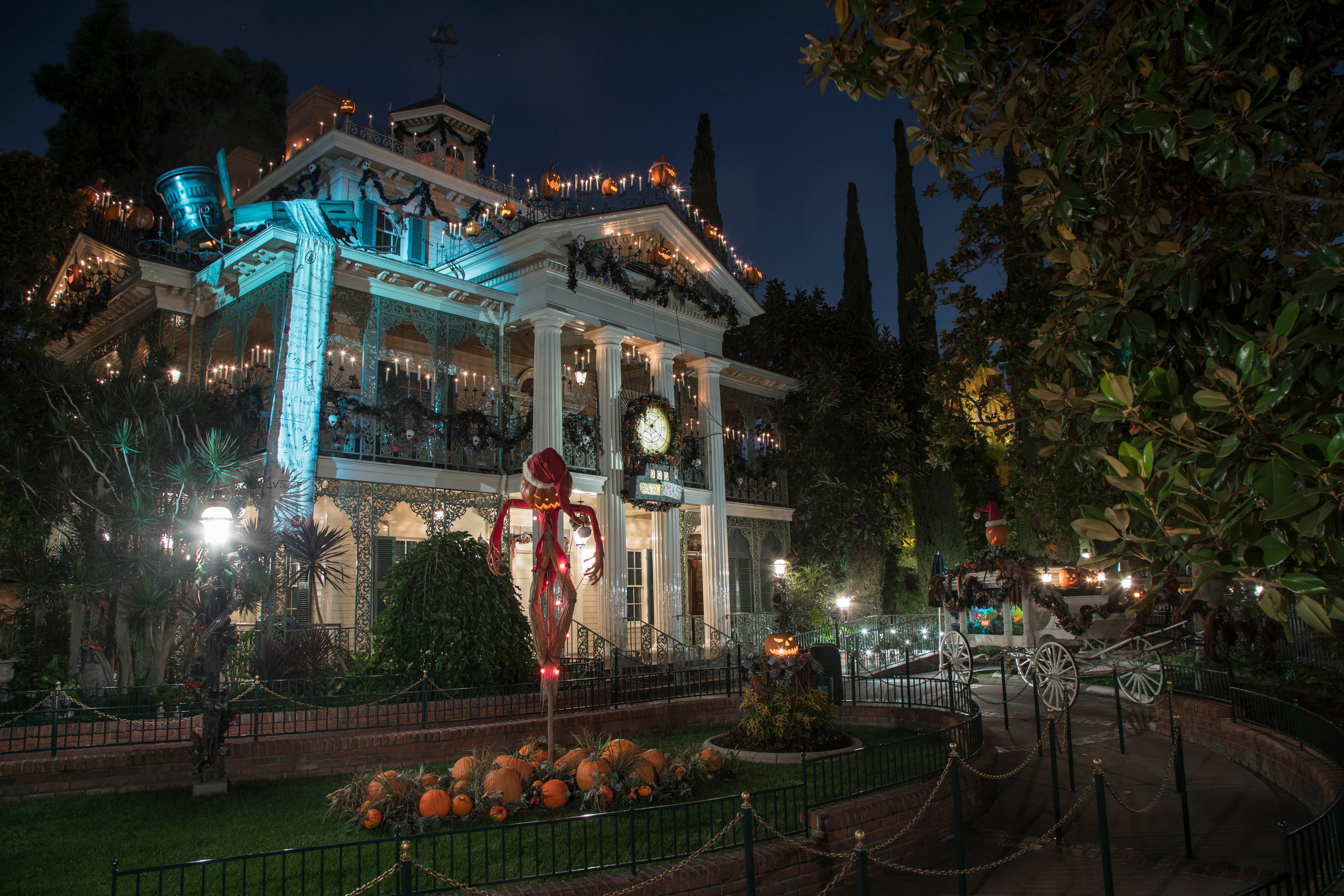 Haunted Mansion Holiday during Halloween at Disneyland