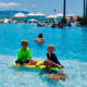 Families of all ages enjoy the large, oceanfront infinity pool at the Marriott Puerto Vallarta Resort and Spa.