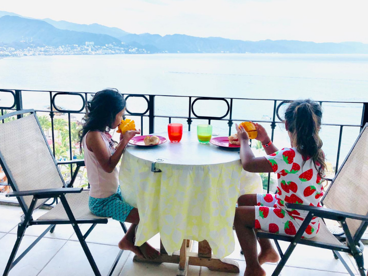 Overlooking Banderas Bay while eating breakfast at the Sunscape Puerto Vallarta Resort and Spa.