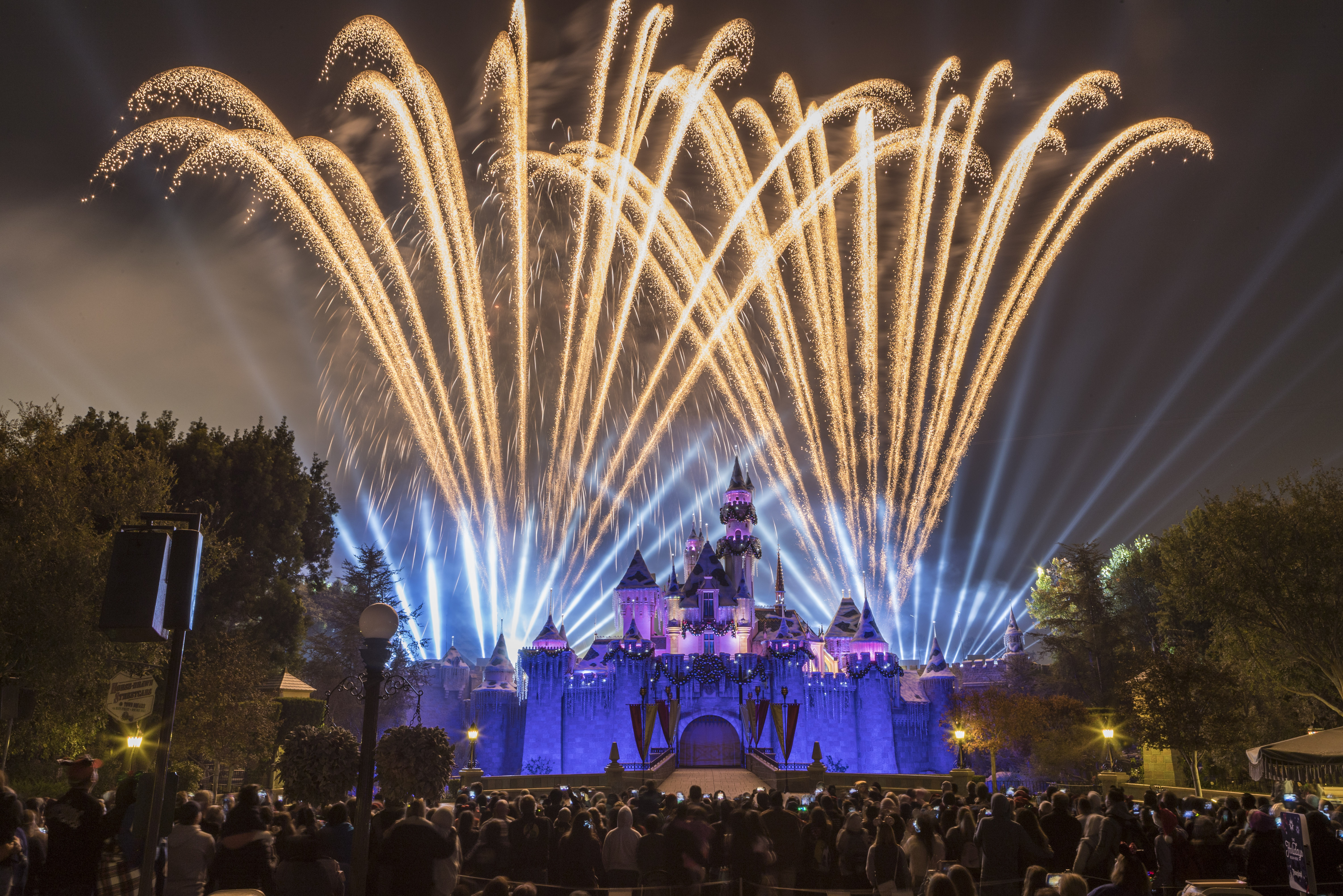 Disneyland holiday fireworks