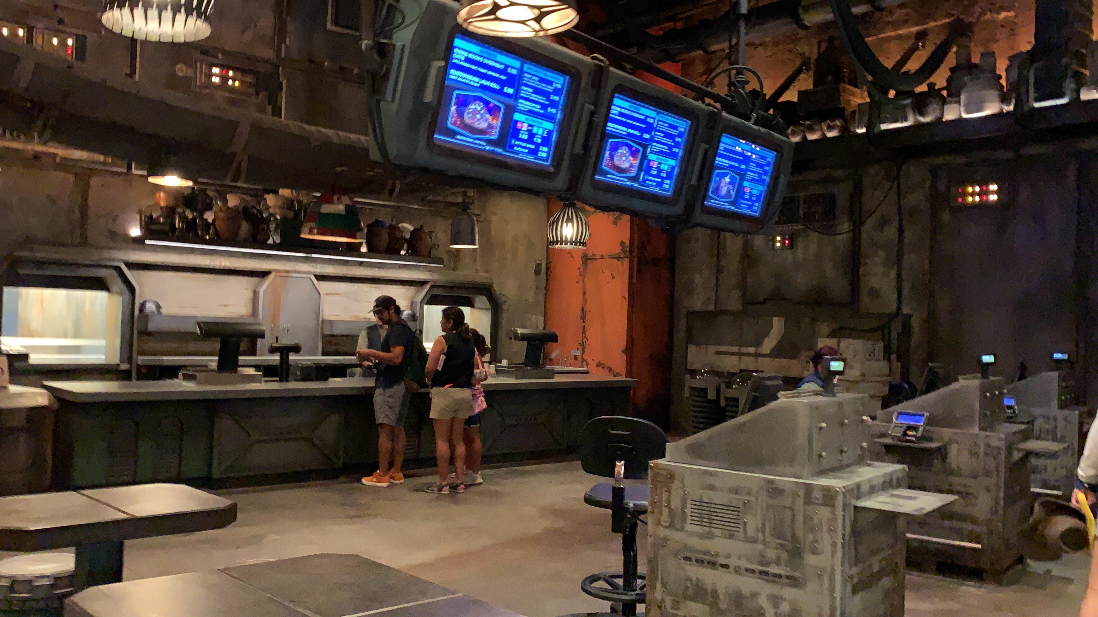 The inside view of Docking Bay 7 at Galaxy's Edge.