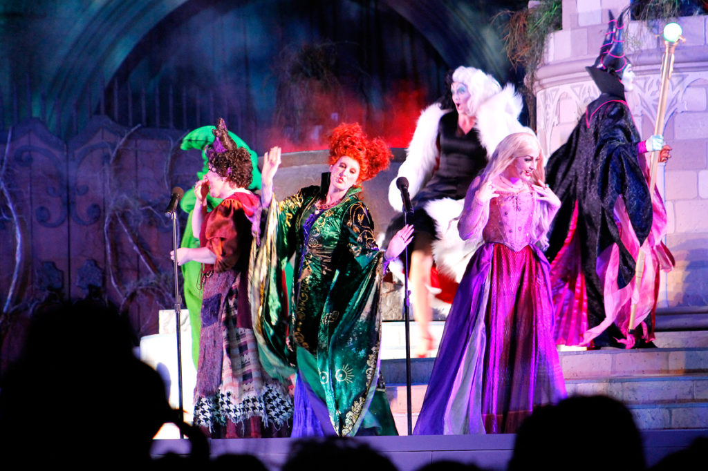 Don't miss the Sanderson Sisters in Hocus Pocus Villain Spelltacular at Mickey's Not So Scary Halloween Party!