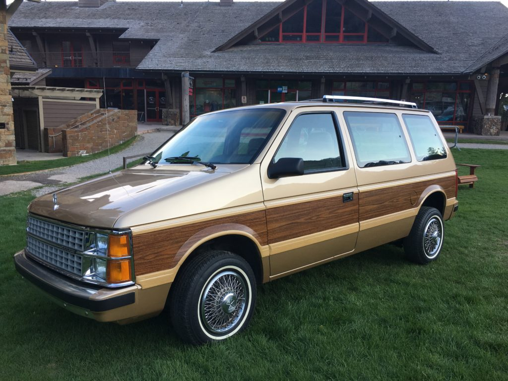 chrysler wood panel minivan