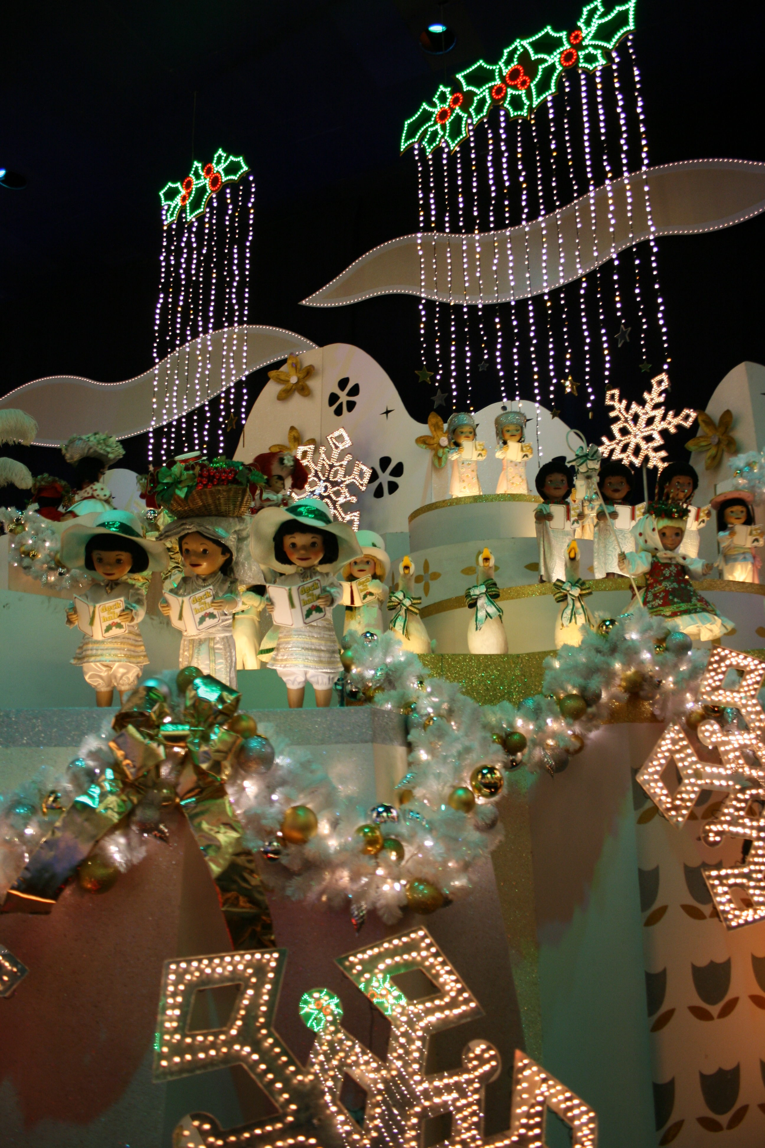 Interior of it's a small world - holiday at Disneyland