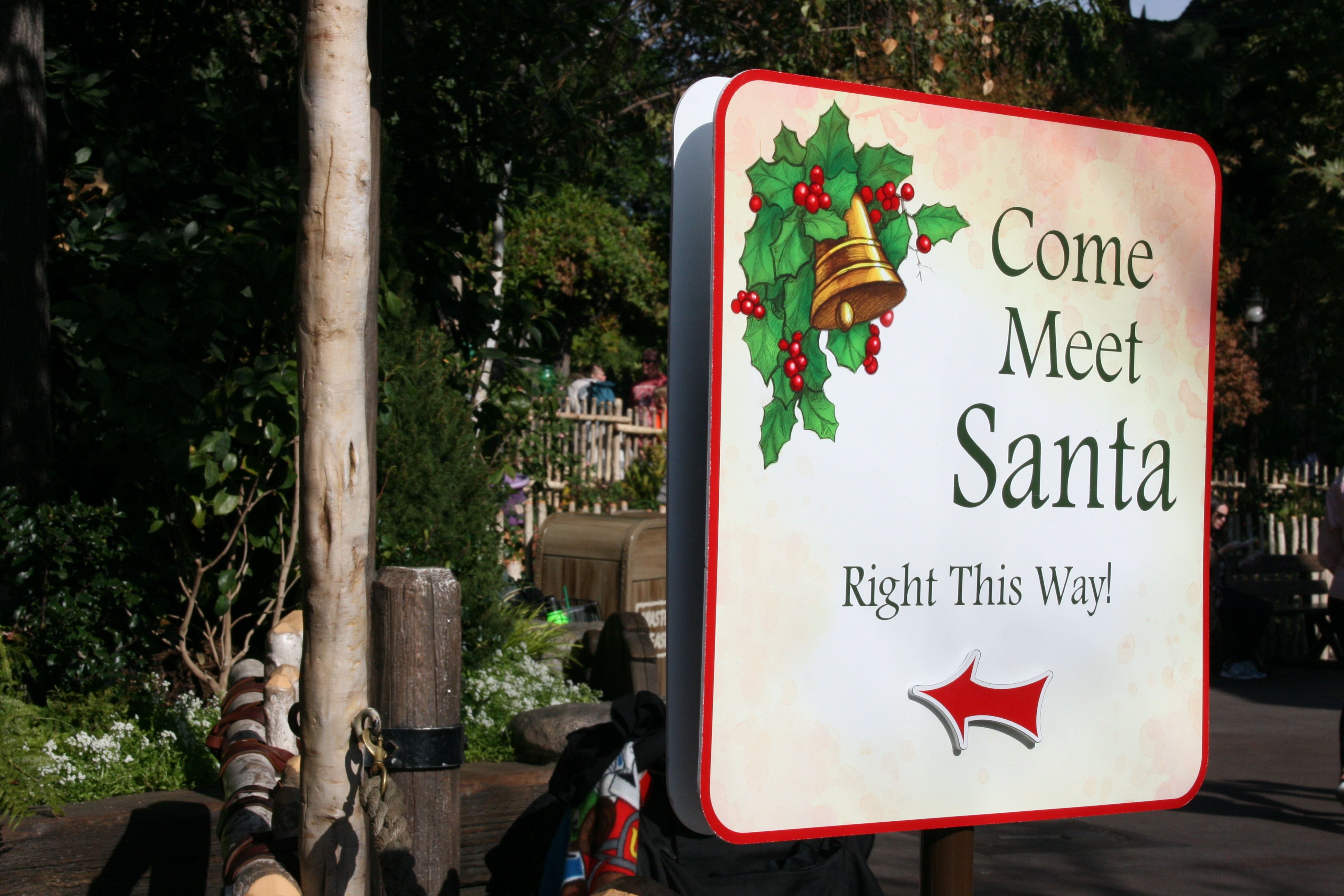 Frontierland Santa Claus sign at Disneyland