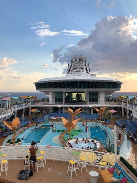 Having fun aboard the Navigator of the Seas on the way to CocoCay.