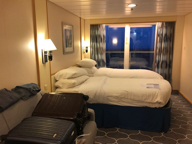 Cabin aboard the Navigator of the Seas, headed to CocoCay.