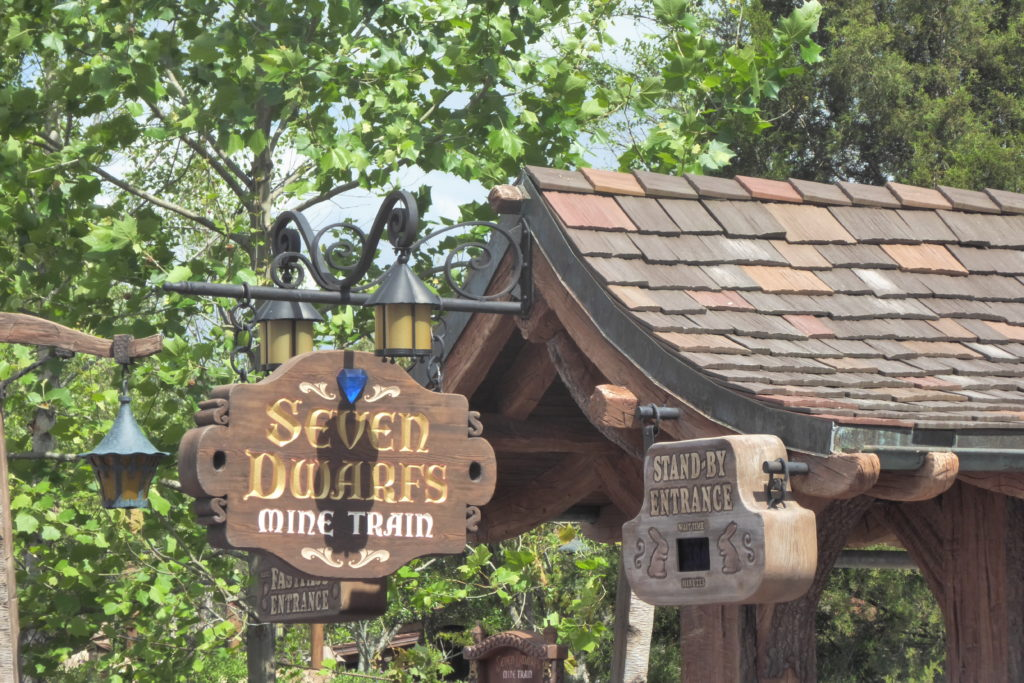 seven dwarf mine train entrance disney