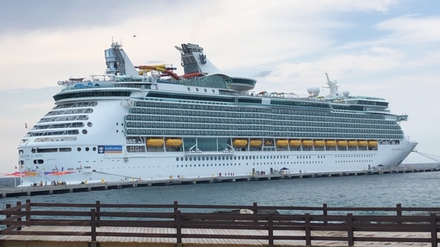 The Navigator of the Seas docked at CocoCay.
