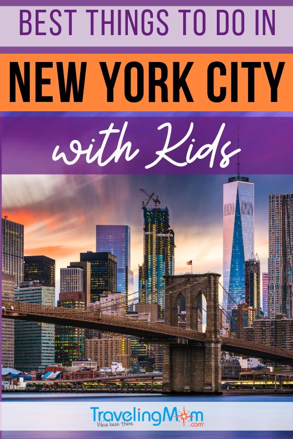 All the best things to do in NYC with kids from aged toddler to teen (and in between). These New York City family-friendly activities are fun for kids in the Big Apple. #TMOM #NYC #NewYork | TravelingMom | Travel with Kids | Family Travel