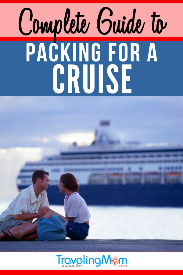 "This is the perfect ""less is more"" complete guide to packing for a cruise! Get the free printable list on what to pack and tips on what to leave behind from a pro cruiser. #TMOM #Cruise #Packing #PackingList 