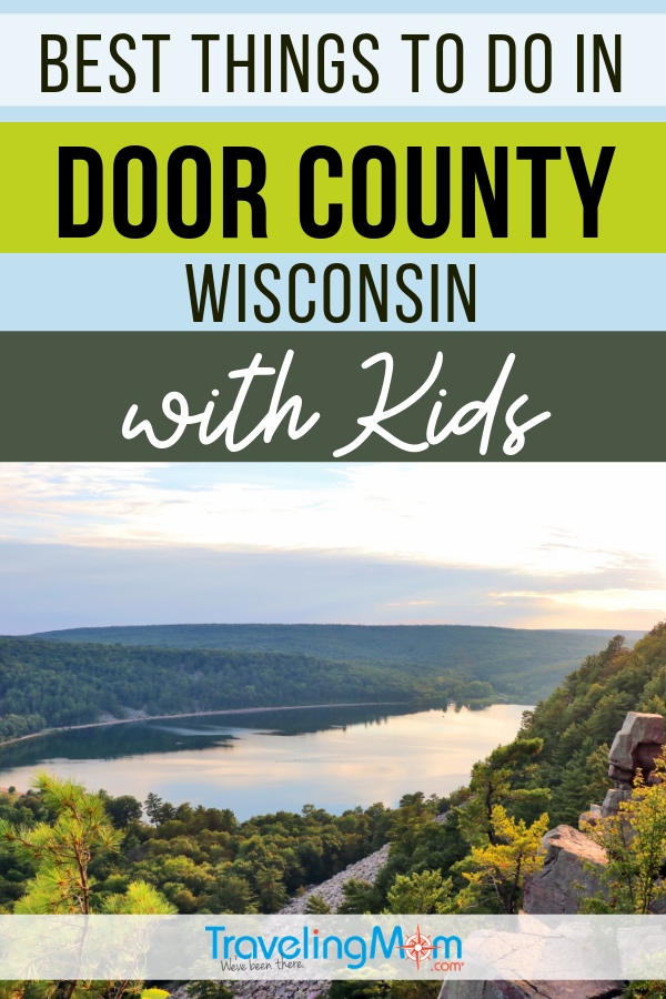 These outdoor activities in Door County Wisconsin are ideal for summer travel with kids. Find out where to kayak and how to hike the sand dunes in this family travel guide. #TMOM #Wisconsin #DoorCounty #Summer | TravelingMom