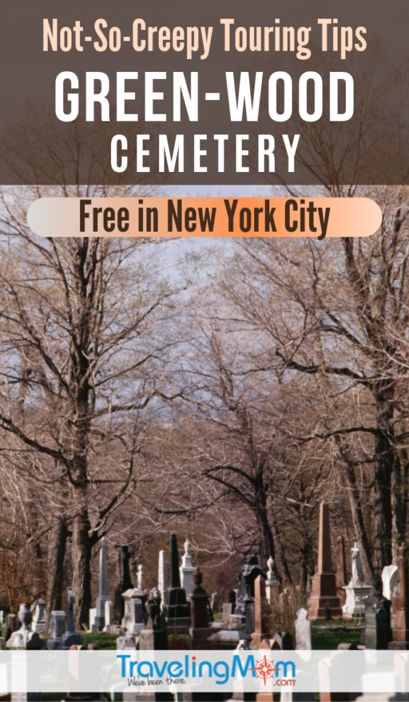 Green-Wood Cemetery in Brooklyn New York is a surprisingly free historical site in the city. Get the tips on this NYC freebie including which gravestones to seek out, art installations and paid twilight tours. #TMOM #NYC #NewYork #Cemetery | TravelingMom