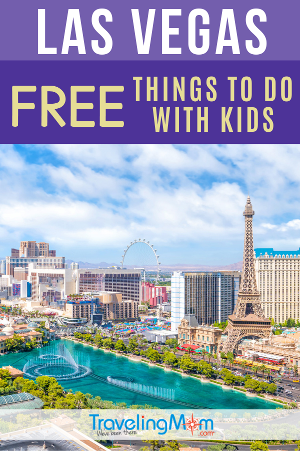 In a city where money flows, there are TONS of free things to do in Las Vegas, even with the kids! Vegas can be a kid-friendly travel destination and these tips make it budget-friendly too. Check out these fun and free activities in Las Vegas with kids. #TMOM #Freein50States #Vegas #LasVegas #Nevada | TravelingMom | Budget Travel | Free in 50 States | Nevada | US Travel