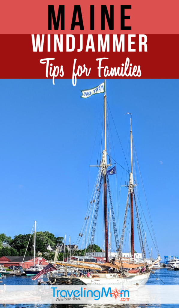 Explore the New England coastline on a Windjammer. Find out more details on this sailing ship out of Maine including tips for families of kids and teens. #TMOM #Maine #Windjammer | TravelingMom | Boating Tips