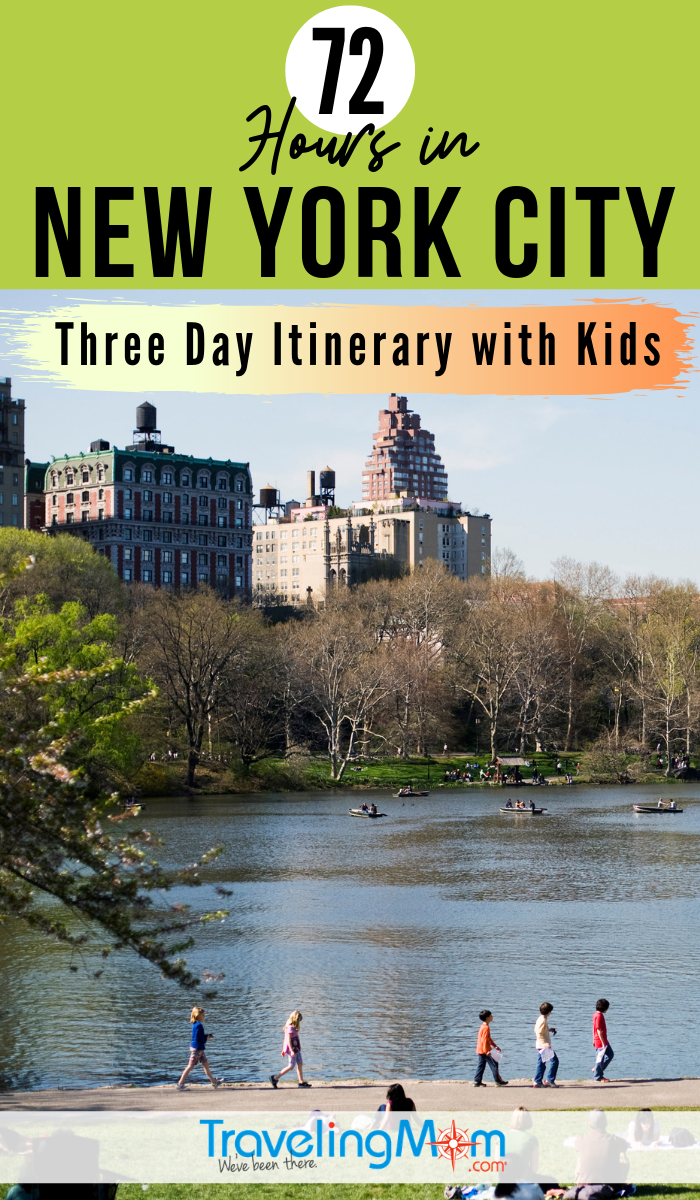 Explore NYC in three days with kids in this extensive itinerary of the Big Apple including walking tours, Statue of Liberty, where to eat and best New York City hotels for families. #TMOM #NYC #NewYorkCity #Travelitinerary | TravelingMom | Travel with Kids | Family Travel