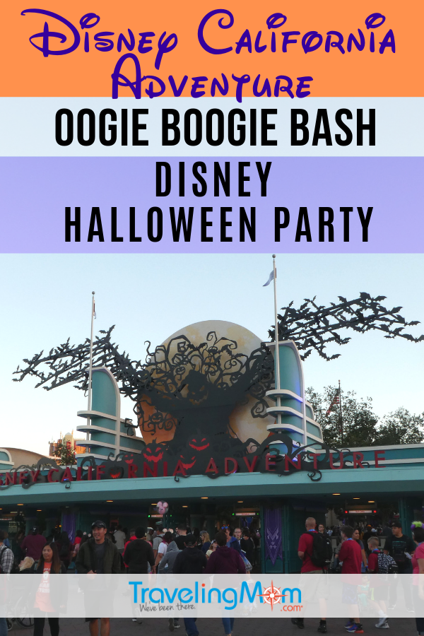 Mickey's Halloween Party at the Disneyland Resort has been replaced by the new Oogie Boogie Bash - Disney Halloween Party, held at California Adventure park! Find out what's new, what's returning, where to get tickets and whether this slightly spooky special event is okay for kids. #TMOM #Halloween #Disneyland #DisneyTips #FallTravel | TravelingMom | Family Travel | Travel with Kids | California