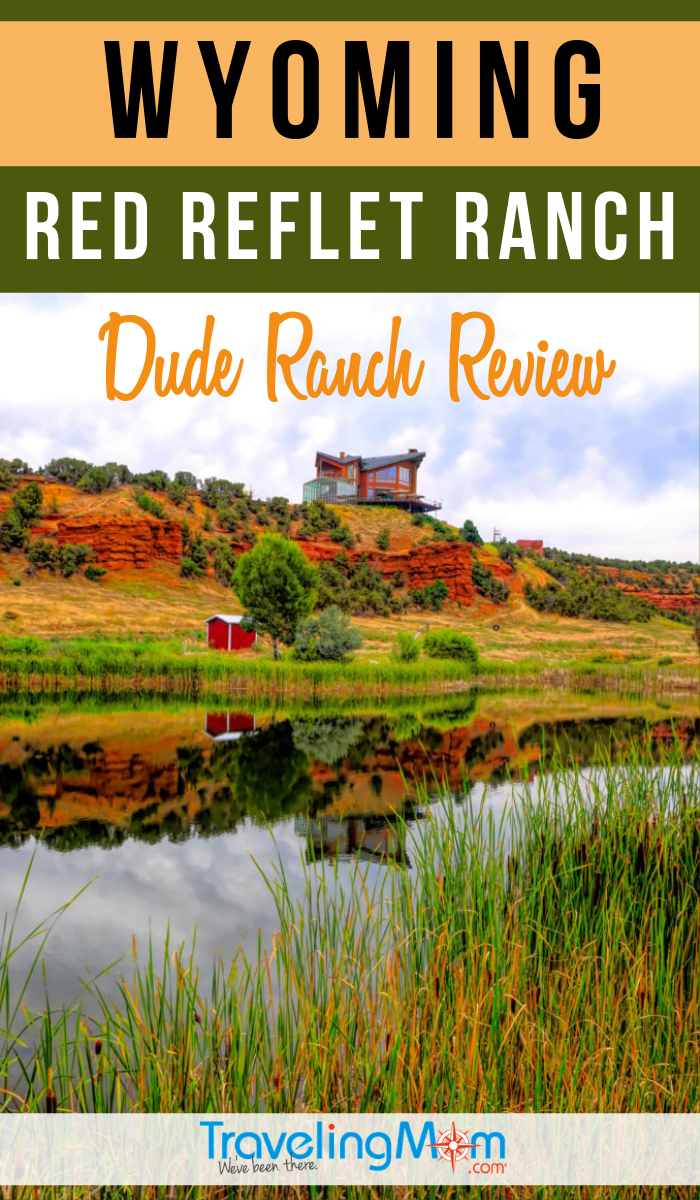 Get the family outdoors at this authentic dude ranch in Wyoming. Get the details in this review of Red Reflet Ranch including kid's programs, dining, and activities on and off-property. #TMOM #DudeRanch #Wyoming | TravelingMom | Horseback Riding