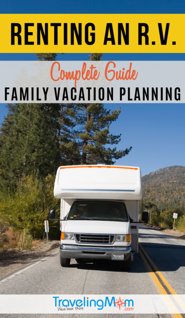 Hit the open road and get ready for camping fun in a rental RV with this complete family vacation planning guide. These are the pros and cons for RV trailer rental companies, pricing, insurance and which type is best for your family. #TMOM #Camping #Trailer | TravelingMom | Road Trip | R.V. Camping