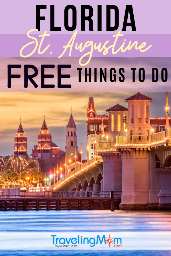 There are free things to do for kids and adults in the Ancient City of St. Augustine, Florida. Miles of beaches, museums and wineries top the list of freebies. #TMOM #Florida #StAugustine #Freein50States #BudgetTravel | TravelingMom | St Augustine | Budget Travel Tips